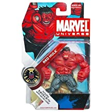 Marvel Hasbro Universe Year 2008 Series 1 Single Pack 4-1/2 Inch Tall Action Figure #28 - Red Hulk With S.H.I.E.L.D File Secret Code by Hasbro