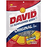DAVID Roasted and Salted Original Sunflower Seeds, 14.5 oz, 12 Pack