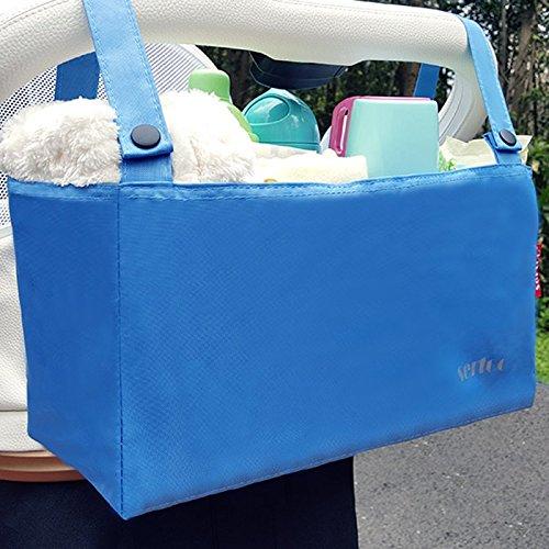 Bolso del carro de bebé que cuelga el bolso del almacenaje de la botella del bolso Bolso de la momia que carga los accesorios del carro de bebé que cuelga el bolso del almacenaje del bebé del bolso (  Mar azul