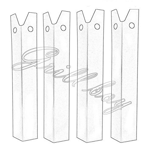 LBD51(4-pack) Porcelain steel Heat Plate for Great Outdoors and Uniflame Grills