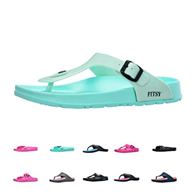 10178b9ce FITSY Cayla Women s Toe Post Flip-Flop Summer Holiday Indoor Outdoor Gym  Shower Garden
