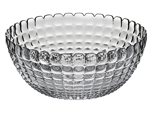 Heart Handled Serving Set (Guzzini Tiffany Collection Extra Large Serving Bowl, 169-Fluid Ounces, Sky Grey)