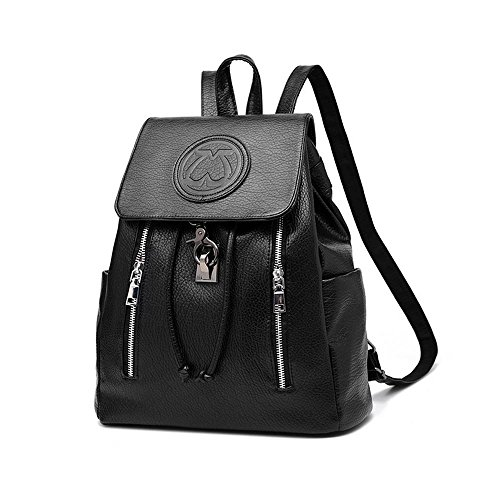 Ladies Backpack PU Casual Large Ladies Women Girls Capacity Fashion Outdoors Black Pawaca Leather Bag Purse School Backpack Rucksack for Casual amp; Backpack Backpack tqvW0Ow
