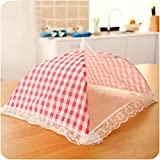 TAOtTAO Kitchen Food Umbrella Cover Picnic Barbecue Party Fly Mosquito Mesh Net Tent NEW (Pink)