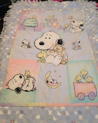 Peanuts My Little BABY SNOOPY - Lambs & Ivy - Quilt, Coverlet, Blanket - Peanuts Snoopy Deluxe Kids Costumes