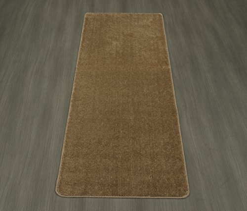 Washable Bathroom Carpet: Ottomanson Softy Collection Color Solid (Machine-Washable