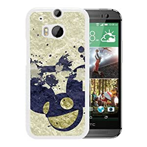 Beautiful Designed Cover Case With Deadmau Spray Color Mouse Smile (2) For HTC ONE M8 Phone Case