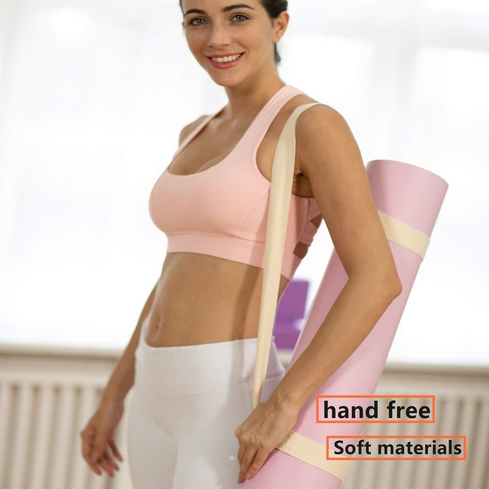 Yogamatte Nicht im Lieferumfang enthalten verstellbare Schultertasche und Gurte zum Tragen langlebige Baumwollgurte Set Matten Yogamatten-Gurt Yoga-Gurte f/ür Dehnung doppelte Halterungen