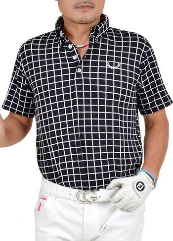 【コモンゴルフ】 COMON GOLF メンズ ストレッチ ワッフル素材 ゴルフ ポロシャツ CG-SP541
