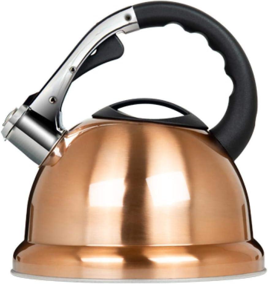 笛のやかんのガスのステンレス鋼の携帯用ガスストーブの電磁調理器の世帯のやかんの笛は厚い大容量、金を厚くします