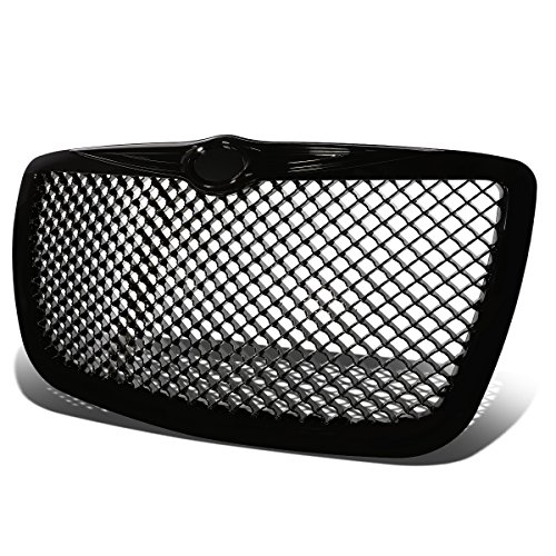 For Chrysler 300/300C ABS Plastic Mesh Front Bumper Grille (Black) - 1st Gen