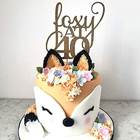 Stupendous 40Th Birthday Cake Topper For Her Woman Foxy At 40 Amazon Co Uk Funny Birthday Cards Online Elaedamsfinfo