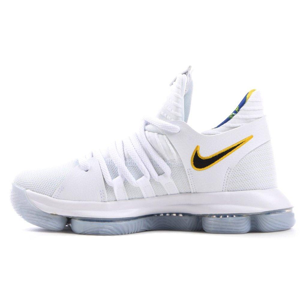 detailed look ed665 2b0df Amazon.com   Nike Zoom KD10 LMTD NBA Grade School Basketball Shoes (4.5 M  US Big Kid, White Game Royal University Gold)   Basketball