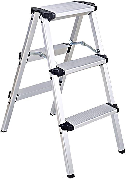 XSJZ Escalera de Aluminio Escalera Multifuncional del hogar del Taburete Plegable del Taburete de la Escalera de Aluminio de los taburetes del Paso Escalera de Mano (Size : 37 * 57 * 73CM): Amazon.es: Hogar