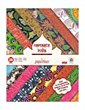 Paperhues Namaste India Collection Scrapbook Papers 8.5x11'' Pad, 36 Sheets.