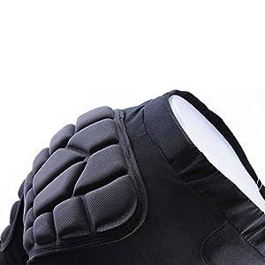 docooler 3D Padded Short Protective Hip Butt Pad Ski Skate Snowboard Skating Skiing Protection Drop Resistance Roller Compression Shorts Pants Size: Large Model: