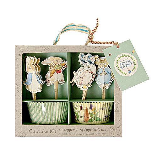 Meri Meri, Peter Rabbit & Friends Cupcake Kit, DIY Birthday, Party Decorations