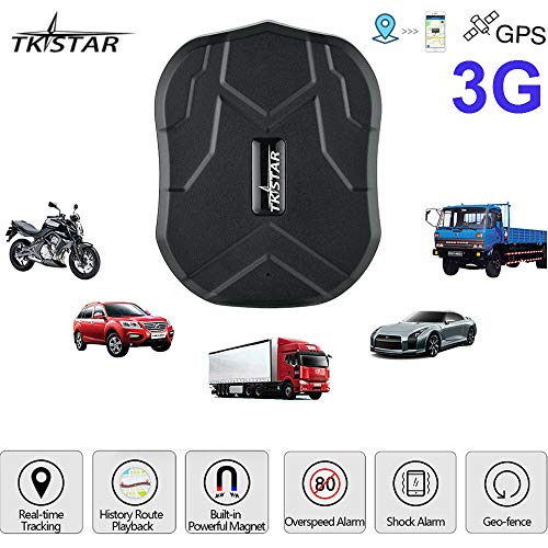 TKSTAR GPS Tracker-3G Real Time Vehiche Tracking Device Anti-Lost for Car  Motorcycle Truck Strong Magnet Monitoring Waterproof Geo-Fence Remove Alarm
