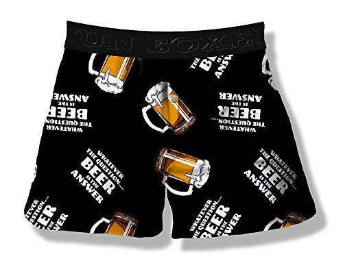 Fun Boxers Beer is The Answer Men's Boxer Short (X-Large)