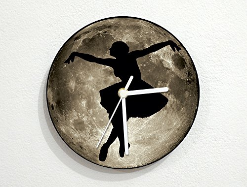 Ballerina - Ballet Dance - Pointe Shoes - Universe Stars Space Galaxy Solar Planet - Custom Name Wall Clock by inPhoenix