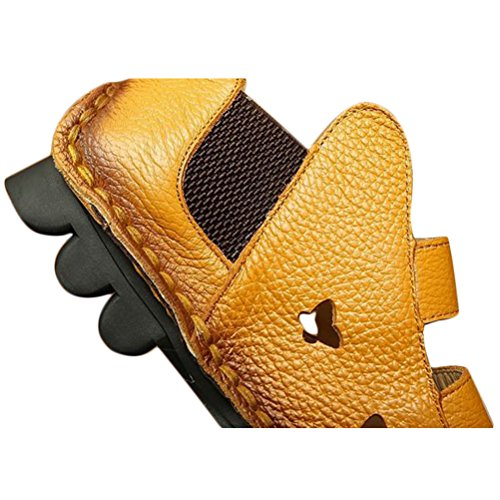 Casuali Tacco 3 Vogstyle Aprikose Sandali Donna Nuove Basso Scarpe Art AWFFYtPz