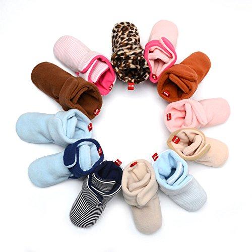WATTA Baby Hi-Top Warm Up Fleece Lined First Pram Shoes Baby Booties - Image 5