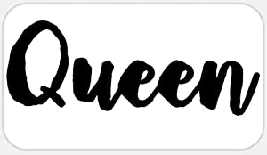 Queen - 50 Stickers Pack 2.25 x 1.25 inches - Royal Crown Name Tag King