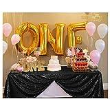 ShinyBeauty 60inx102in Sequin Tablecloth-Rectanglar-Black Wedding/Christmas/Black Friday Party Linen (Black)