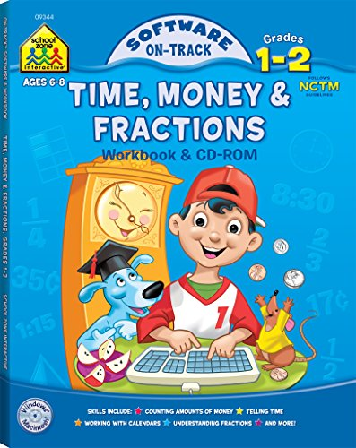Time, Money & Fractions, Grades 1-2 (Book & CD) (Software: On Track)