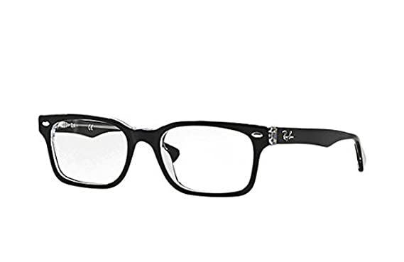 04ab4446436 Ray-Ban RX 5286 Eyeglasses Top Black on Transparent 51mm   Cleaning Kit  Bundle