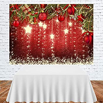 CYLYH 8x6ft Christmas Red Photography Backdrop Christmas Theme Backdrop New Year Decoration Background Family Party Baby Shower Decorations SDJ-503
