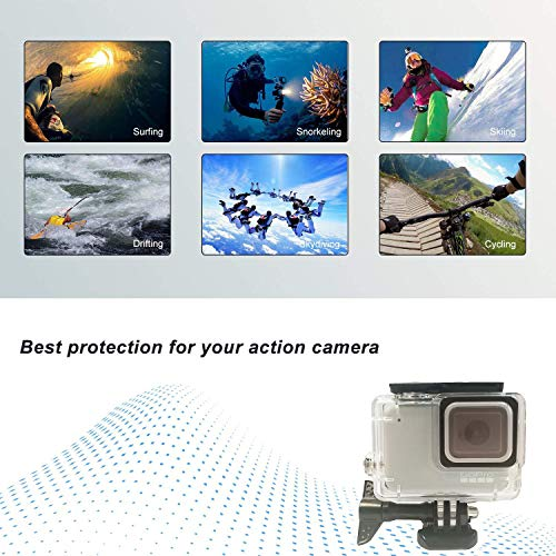 Kitspeed Accessories kit for GoPro Hero 7 White/Silver, Including Waterproof Housing Case/Portable Small Carrying case/Screen Protector/Carabiner/Camouflage Strap/Anti-Fog Insert by kitspeed (Image #1)
