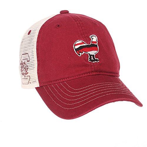 Mesh Screen Print Cap (South Carolina Gamecocks Trucker Hat - Garnet)