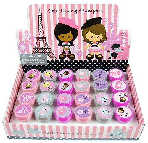 TINYMILLS 24 Pcs Paris Stampers for Kids
