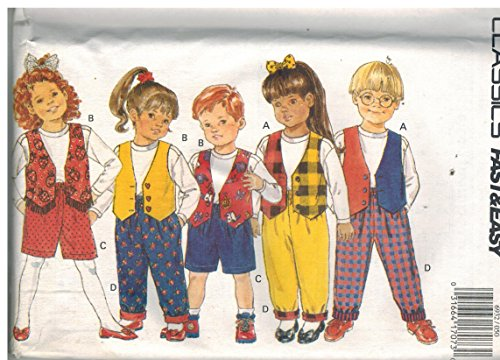 6932 UNCUT Butterick Sewing Pattern Toddler Boys Girls Vest Shorts Pants Top Size 5 6 6X (Sewing Patterns For Toddler Boys)