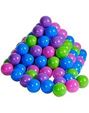 Knorrtoys 56777 - 100 ballen in leuke pasteltinten zonder gevaarlijke weekmakers Ø ca. 6 cm - TÜV-gecertificeerd