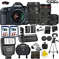 Canon EOS 5D Mark III 22.3 MP Full Frame CMOS with Canon EF 24-105mm f/4 L IS USM + Tamron AF 70-300mm F/4-5.6 + Canon EF 50mm f/1.8 II + 2 Commander 32GB Memory Cards + Commander UV Filters Benefits Review Image