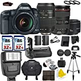 Canon EOS 5D Mark III 22.3 MP Full Frame CMOS with Canon EF 24-105mm f/4 L IS USM + Tamron AF 70-300mm F/4-5.6 + Canon EF 50mm f/1.8 II + 2 Commander 32GB Memory Cards + Commander UV Filters
