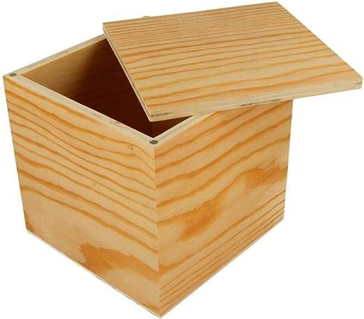 Caja de madera Artemio cierre imanes 12x12x12 CM: Amazon.es: Hogar