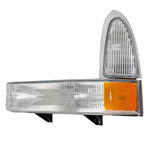 - Drivers Park Signal Front Marker Light with Clear Lens Replacement for Ford SUV Pickup Truck 2C3Z13201AA AutoAndArt