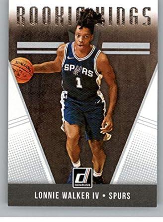 2018-19 Donruss Rookie Kings Basketball Card  10 Lonnie Walker IV San  Antonio Spurs 298c1a7b9