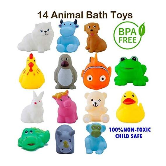 Ramakada Chu Chu Bath Toys for Baby Kids Non-Toxic Toddler Set, Multi Color