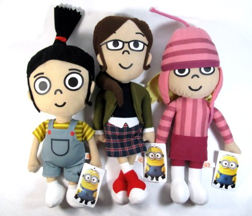Despicable Me 2 - The Girls 3 Piece Plush Set - Includes Margo, Edith, and Agnes]()