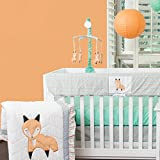Pam Grace Creations Friendly Fox 10 Piece Crib Bedding Set, Orange