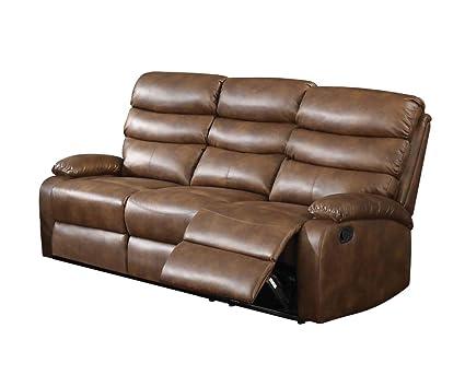 Amazon Com Acme Furniture Acme Mingus Coffee Faux Leather Reclining