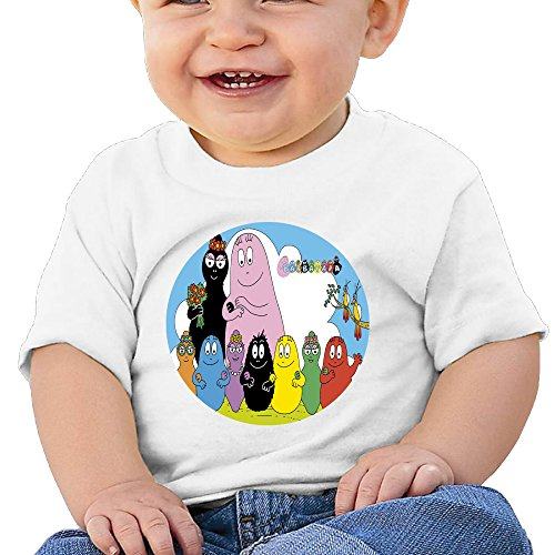 Price comparison product image Boss-Seller Les Barbapapa Short Sleeve Tees For 6-24 Months Boys & Girls Size 12 Months White