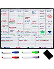 Magnetic Weekly Planner Fridge Whiteboard - Weekly Meal Planner - Family Planner - Get organised to Reduce Stress in Your Life