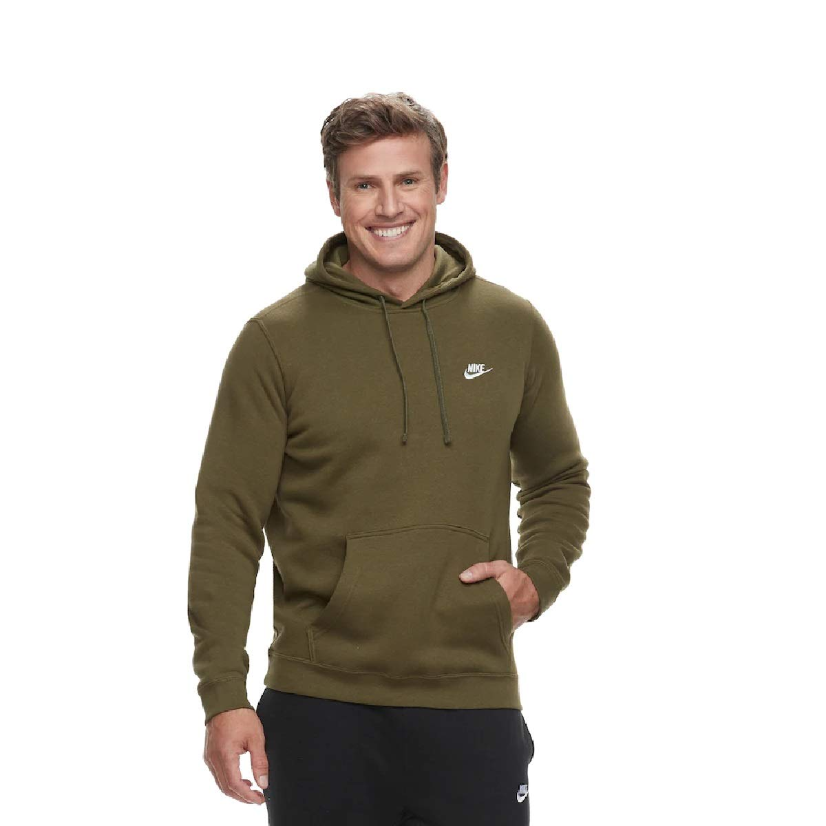 Nike Men's Club Fleece Pullover Hoodie (Olive Canvas, 2XL Tall)