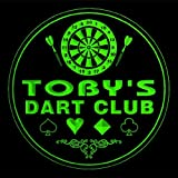 4x ccts0499-g TOBY'S Dart Club Game Room Bar Beer 3D Engraved Drink Coasters