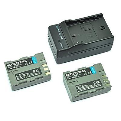 mondpalast@ 2X Reemplazo Li-ion batería EN-EL3e ENEL3e EN-EL3a ENEL3a 1500mAh + cargador para Nikon DSLR D50, D70, D70s, D80, D90, D100, D200, D300, D300S D700